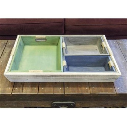 Manual Woodworkers & Weavers IMTRNE 31 x 23.25 x 4 in. Wood Nesting Tray - Set of 4