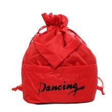 Fresh Color Dance Bags Latin Ballet Backpack Sport Bag, Red
