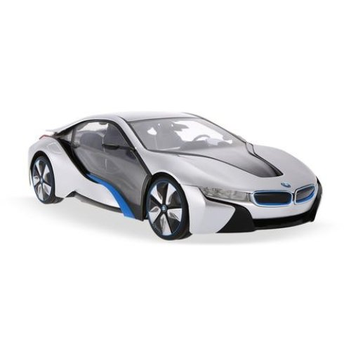 Licensed 1:14 BMW I8 Concept Remote Control Car Silver Working Headlights and Tailgates Ages 6 Years+ RideonToys4u