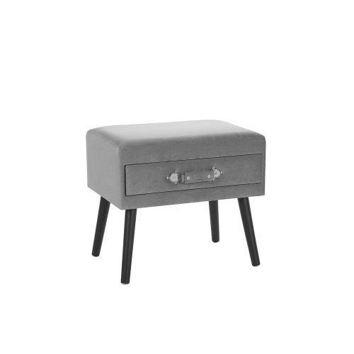 Velvet Side Table Grey EUROSTAR
