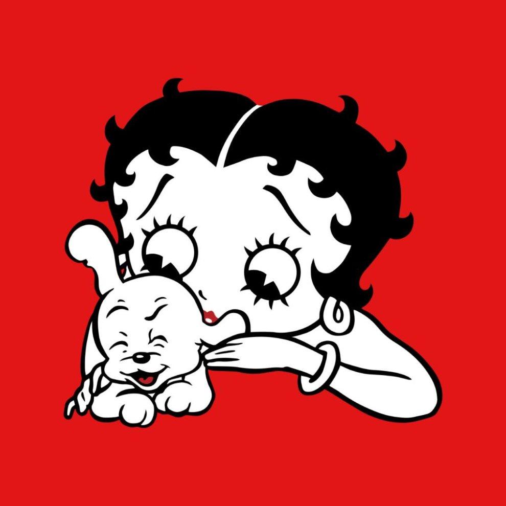 Comics Kingdom Betty Boop Tickles Pudgy Mens Hooded Sweatshirt