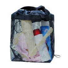 Hiking Quick Dry Mesh Shower Accessories Bag Breathable Bath Tote-Black