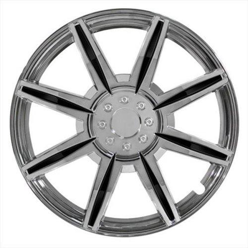 Pilot Automotive WH541-16C-BLK 8 Spoke 16 In. Wheel Cover - Chrome, Black