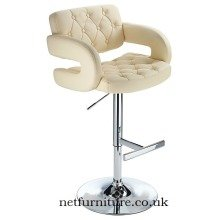 Relaxed Narino Height Adjustable Bar Stool with Padded Swivel Seat Brown