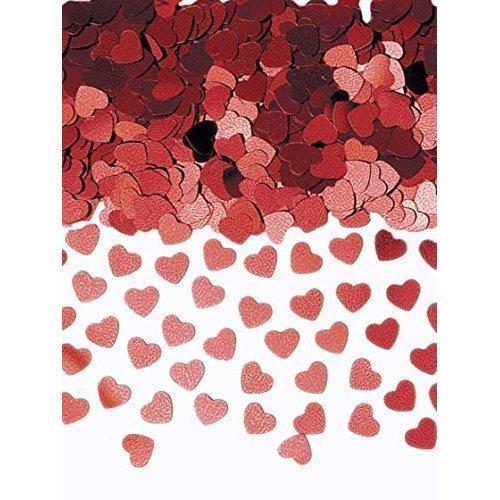 Sparkle Hearts Red Metallic Confetti 14g -