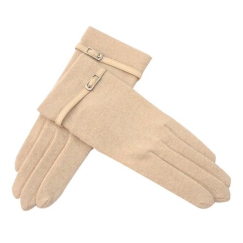 Wool Gloves Autumn And Winter ComfortableTouch Screen Classic Gloves Beige