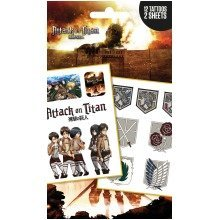 Attack on Titan Logos and Characters Tattoo Pack