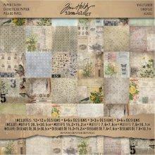 "12"" x 12"" Wallflower Paper Stash -  paper ideaology stash pad tim holtz wall flower pack 36"