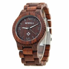 Bewell Men's Lightweight Natural Wooden Watch