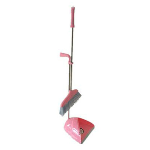 Durable Removable Broom and Dustpan Standing Upright Grips Sweep Set with Long Handle, #C11
