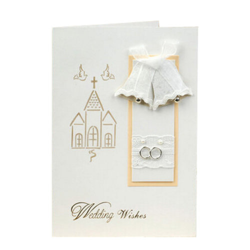 Set of 10 3D Cards Wedding Accessories Thank You Note Cards,Bell
