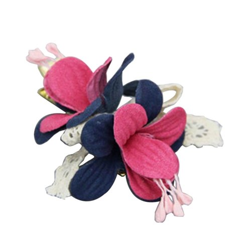 [Flower-4] 2 Pairs Stylish Hair Clip Baby Girls Hair Clip Princess Hair Barrette