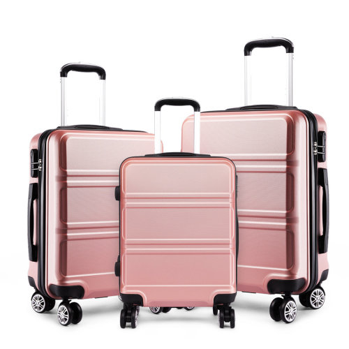 KONO Luggage Suitcase Travel Trolley Case Bag Hard Shell ABS 4 Wheels Spinner Nude 20 24 28 Inch Set