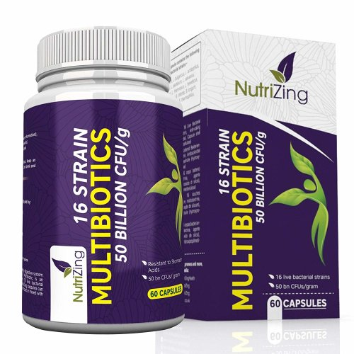 16 strain probiotic bacterial cultures by NutriZing - 50bn CFUs/g