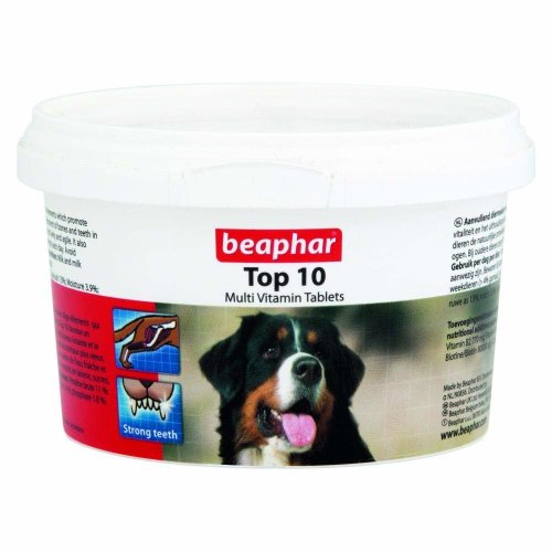 Beaphar Top 10 Multi-Vitamin Tablets for Dogs - 180 Tablets