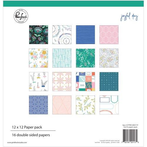 "Pinkfresh Studio Double-Sided Paper Pack 12""X12"" 16/Pkg-Joyful Day, 8 Designs/2 Each"