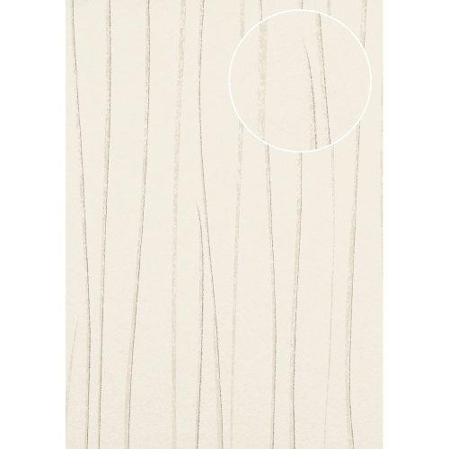 Atlas COL-568-2 Stripes wallpaper shimmering grey-white silver 5.33 sqm