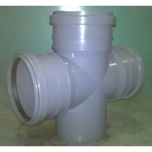 """Soil Pipe 110 mm - Double Branch With Two 90 degree 110 mm Inlets - Push-Fit 4"""""""