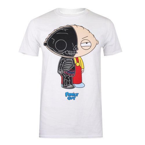 90c0a86d41bbf (XL) Family Guy Stewie Anatomy Mens T-shirt White