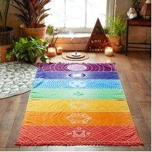 SOFO Fashion Rainbow Colorful Beach Yoga Towel Bath Towel
