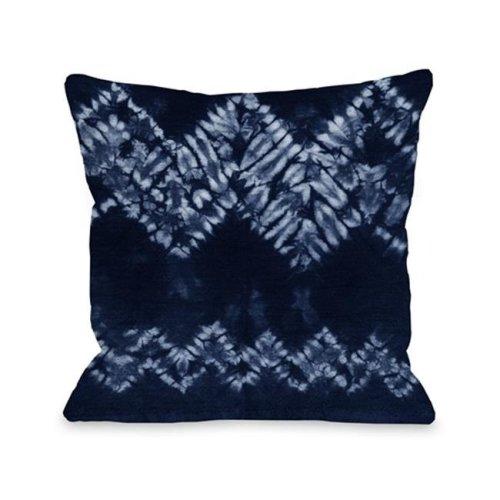 One Bella Casa 75037PL16 Dye Pattern Dream Pillow, Navy - 16 x 16 in.
