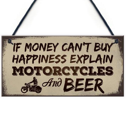 RED OCEAN Beer Motorcycle Enthusiast Motorbike Man Cave Sign Garage Vintage Dad Grandad Gift For Him