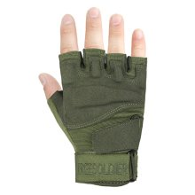 Fingerless Breathable Wear Resistant/Hunting/Climbing/Shooting Gloves GREEN, M