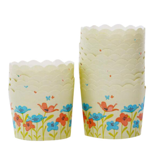 Baking Cups Maffin Cup Best Quality Cupcake Paper 50 PCS Flowers