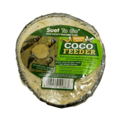 Suet To Go Half Coconut Feeder Insect (Pack of 10)