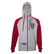 Guardians Of The Galaxy 2 Drax Hooded Zip Mottled Light Grey /Red XXL Size