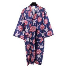 Japanese Style Women Thin Cotton Bathrobe Pajamas Kimono Skirt Gown-A01