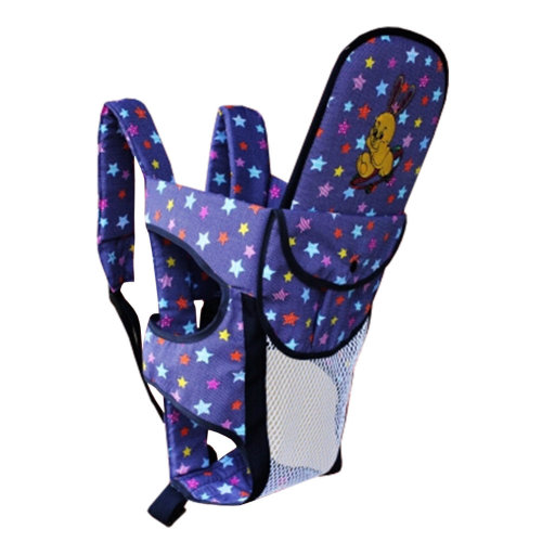 Multifunctional Cotton Baby Carriers Backpack,Household & Travel Starry Sky Navy