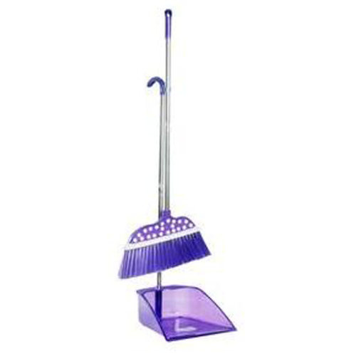 Durable Removable Broom and Dustpan Standing Upright Grips Sweep Set with Long Handle, #C3