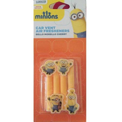 Despicable Me Minion Minions Car Air Freshner Stick - Minion Design - Pack of 4