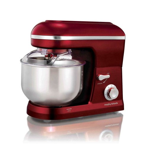 Morphy Richards 400019 Evoke Stand Mixer 800W 5 Liters Bowl Red