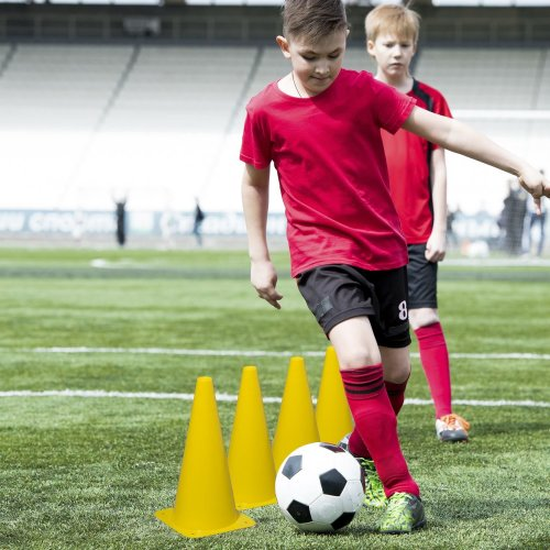 "Gr8 Fitness 10 x Yellow Training Marker Cones Football Rugby Traffic Sports Set[12""]"