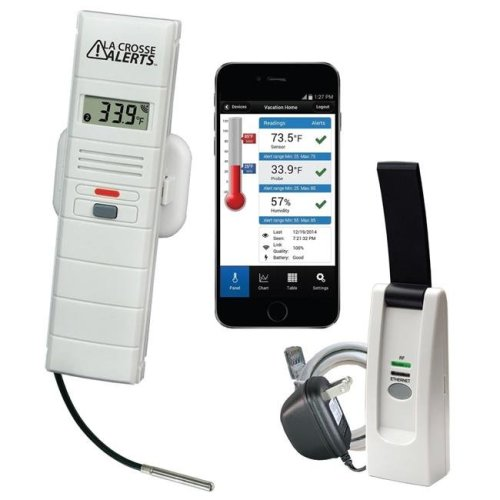 La Crosse Technology 926-25102-PET Aquarium Monitoring System with Wet Probe for Early Warning Alerts & Wireless Mobility