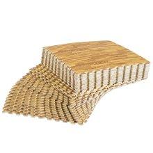 HOMCOM 30 Pcs Interlocking Floor Tiles EVA Foam Puzzle Mat Protection Gym Garage Wood Grain Effect 60 cm