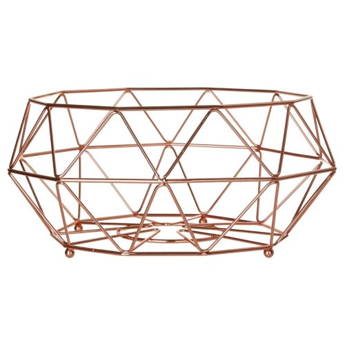 Vertex Fruit Basket Minimalist Design Copper Plated Finish