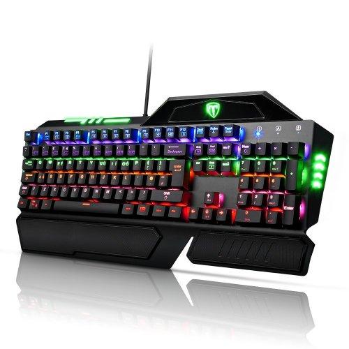 Pictek Gaming Keyboard 105-Key LED with Multi-color 9 Backlight