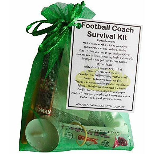 Football Coach Survival Kit Gift  - Great present for Christmas, end of year or just because.