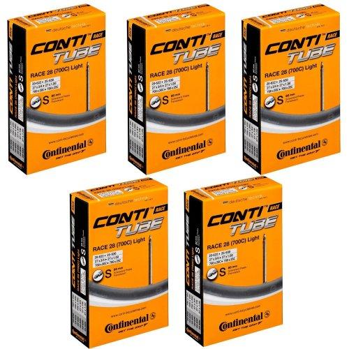 Continental Race 28 700 x 20-25c Bike Inner Tubes - Presta 80mm Long Valve (Pack of 5)