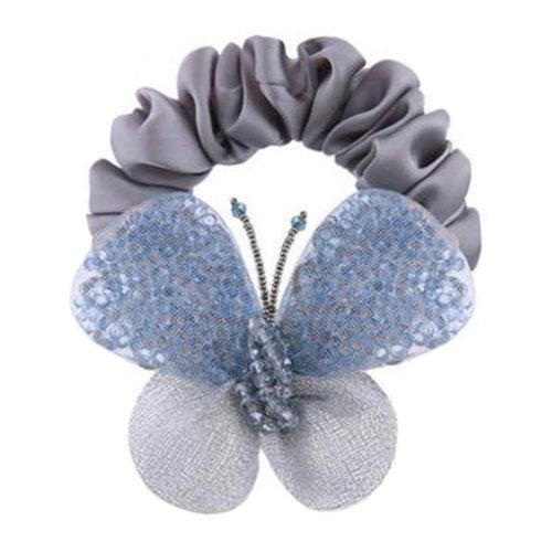 Handcraft Premium Elastics Hair Ties Luxury Ponytail Holder Accessories Girls Hairdressing, F