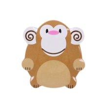 3 Pieces Of Fashion Cartoon Monkey Shaped Drop Resistance Plate