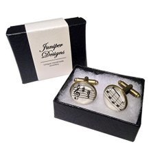 Handcrafted Sheet Music Cufflinks - An excellent gift for a musician or music lover