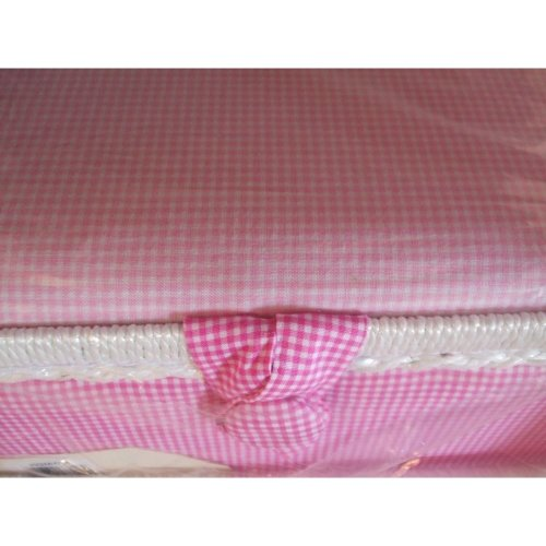 HobbyGift Medium Sewing Box / Basket With Pincushion & Removable Tray - Two Tone Gingham