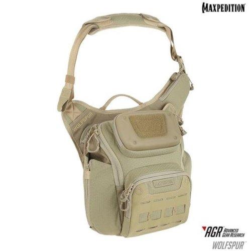 Maxpedition WLFTAN Wolfspur Crossbody Shoulder Bag, Tan
