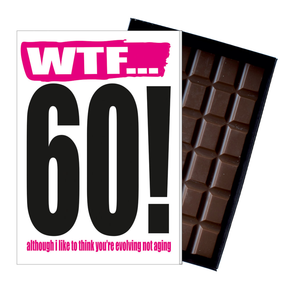 Funny 60th Birthday Gift Rude Naughty Present For Him Or Her 85g Chocolate Card On OnBuy