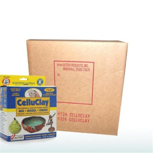 CelluClay 224 Activa 24 lbs Sculpting Paper Mache, White