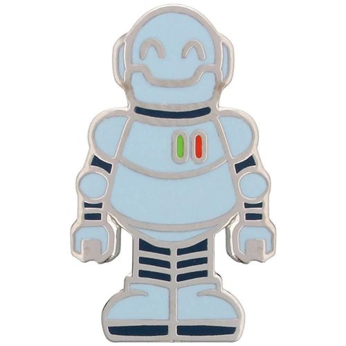 Grindstore Happy Robot Enamel Pin Badge